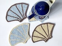 Knitting and so on Knitted Sea Shell Coasters